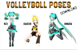[MMDxHaikyuu!!] Volleyboll Poses [Pose DL] by MinuzNegative