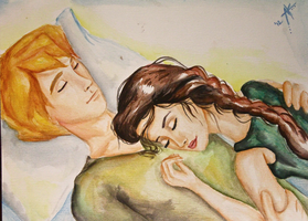 Peeta and Katniss by AnnieIsabel