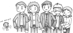 CSI:NY cast - art trade by dongpeiyen1000