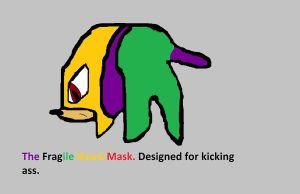 Shards Luchador Mask Left and Right by BladetheEchidna1