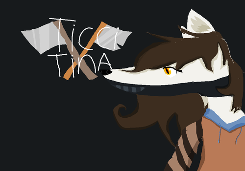 Ticci Tina Wolf Anthro (REQUEST) by X-marblehornets-x