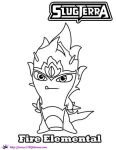 Fire Elemental coloring page SKGaleana by SKGaleana