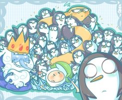 penguins, penguins EVERYWHERE! by chibiirose
