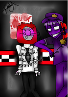 Purple guy x Phone guy by KatherinneFoxFNAF2