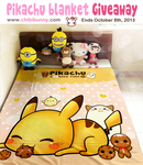 Cute Pikachu blanket giveaway by tho-be