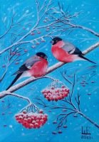 Bullfinches by Sonne91