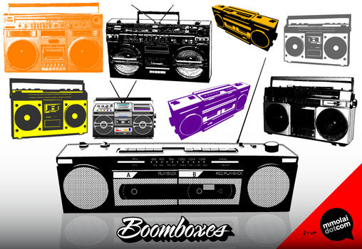Vector Boomboxes by mmolai
