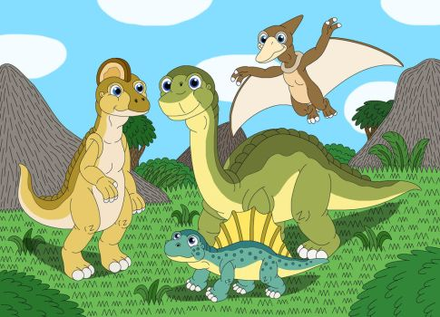 Dink and his dinosaur friends by MCsaurus
