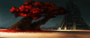 red tree by CrackBag