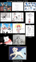 My Art Summary of 2014 by Battouga-Sharingan