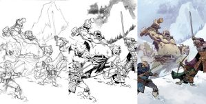 Dungeons and Dragons: Frost Giant's Fury #1 by nelsondaniel