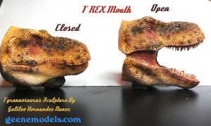 Tyrannosaurus mouth Open and  Closed by GalileoN