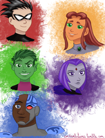 Teen Titans by DarbyLucy