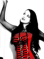 Red Corset by RottRaven