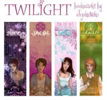 twilight bookmarks by JigokuNeko