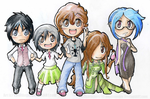 For Anjiezombie - Chibi Line-Up by TwilitAngel