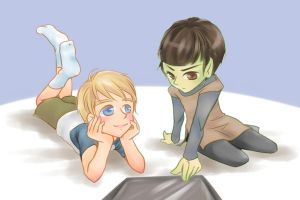 Jimmy and Spock by koutwin