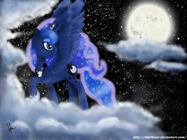 Luna's night by lillyflover