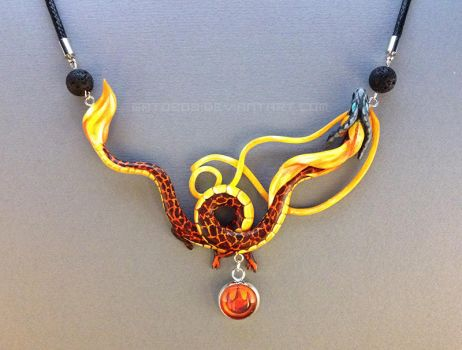 Dragon Necklace - Volvagia by Gatobob