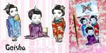 Sticker pack -Geishas- by Bea-Gonzalez