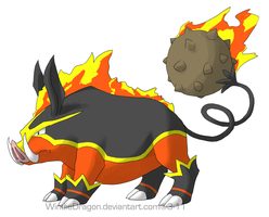 Emboar Ground Forme by WindieDragon