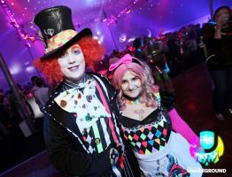 Raving Alice and Hatter at the Party by Faith-NG32