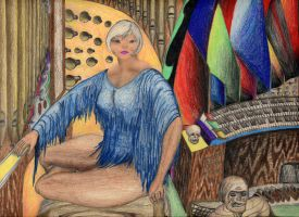 Shasheerian organist 1 by MuscleWomen-Planet