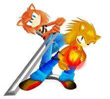 The Orange Bros by andril