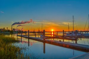 Maritime Port Sunset starburst November 29 2014 5 by ENT2PRI9SE