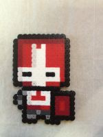 -Perler- Red Knight by OtakuLuka