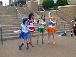 sailor scouts by titanstargirl