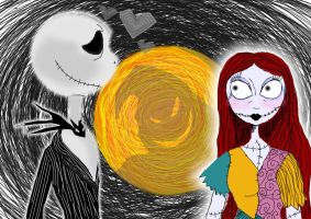 Jack and Sally by lyndzeepie