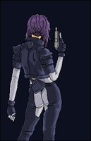 Motoko Kusanagi by talkingmongoose