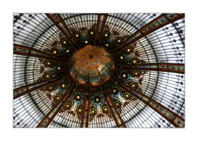 Cupola in Galeries Lafayette by sandor-laza
