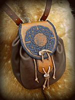Knotwork Sporran Bag by Half-Goat