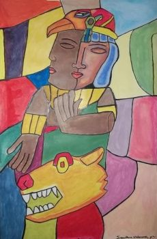 my first cubism by wolfink13
