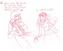 Here comes the bride... by NovaGreensocks