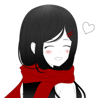 Ayano's Smile by AkaiTeddy