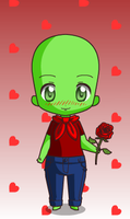 Raph Giveing Me A Flower by KelseytheHedgecat