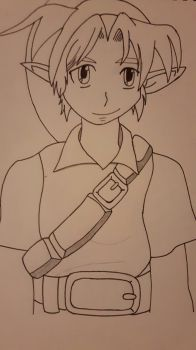 Young link Line Art by RJWoody