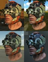 Sci-fi helmet PBR material tests 2 by lockphase