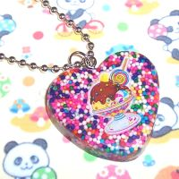 Ice Cream Sprinkles Necklace by bapity88