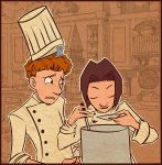 Colette and Linguini .color. by Jowy10