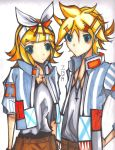 My First Anniversary Picture!!-Rin and Len by InfinityYellowA