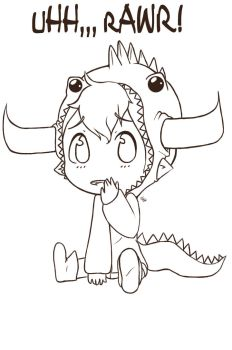 uHH,,, rAWR!? .:Tavros Chibi Lineart:. by Camsee-Mystery
