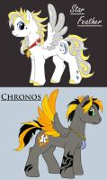 Chronos and Star Feather by SilverFlight