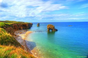 The Coast Of Whitburn HDR by DragonRichard