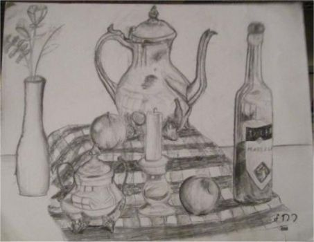 Still Life Charcoal by RejoiceDanceSing
