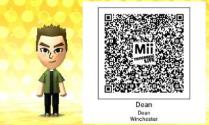 Tomodachi Life: Dean Winchester QR Code by Mickxbeth2012