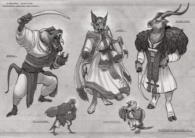 Anthro Character Designs by Coalbones